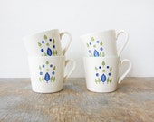 swiss chalet cups / swiss alpine mugs / mid century teacups