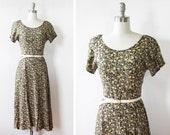 90s floral dress / 1990s grunge revival dress