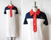 1960s lacoste dress / vintage 60s mod scooter dress / 1960s preppy tennis dress