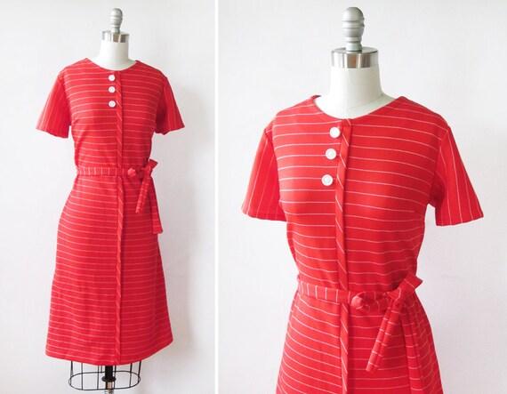 60s mod scooter dress / 1960s mod striped scooter dress