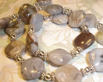 I LOVE These Stones Bamboo Agate Necklace