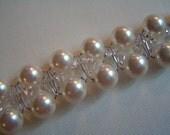 Swarovski pearl and crystal bridal bracelet