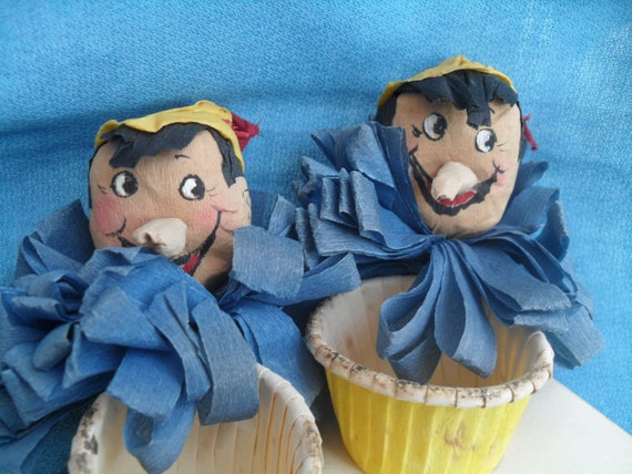 Vintage Pinocchio Disney Party Nut Candy Party Cups Hand Made