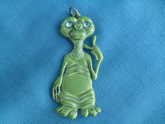 Vintage E.T. The Extra Terrestrial 1980s Necklace Pendant