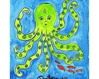 Octopus - Nautical Beach Print Series