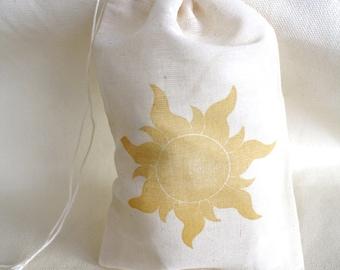Tangled SUNburst  muslin drawstring bag (36) individual bags)