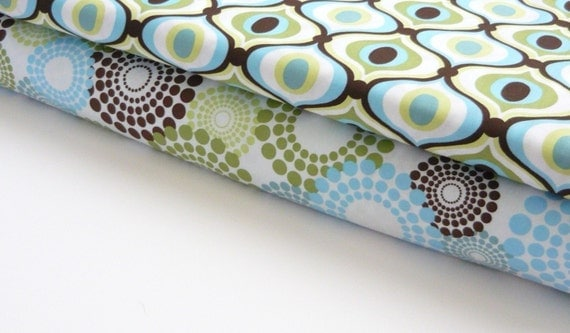 Michael Miller fabric duo -Spa Round About and Spa Feelin Groovy 2 yards