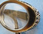 rhinestone 50s cat eye glasses SALE