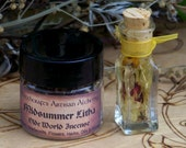 MIDSUMMER LITHA Sabbat Olde World Ritual Incense & Smoke Infused Oil Set for Summer Solstice Magick, Celebrating Life, Illumination