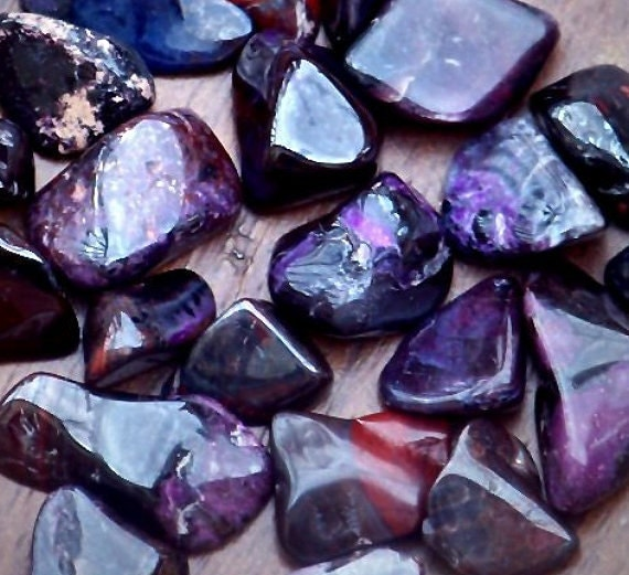Quality Rare Purple SUGILITE from South Africa, One Tumbled Polished Gem in Jewelry Pouch for Psychic Awareness, Wisdom, Healing Spell
