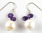 Freshwater Pearl and Amethyst Earrings to benefit the Lustgarten Foundation