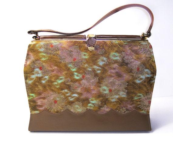 Vintage Metallic Brocade Purse Melbourne Bags Vogue Boot Shop TREASURY ITEM