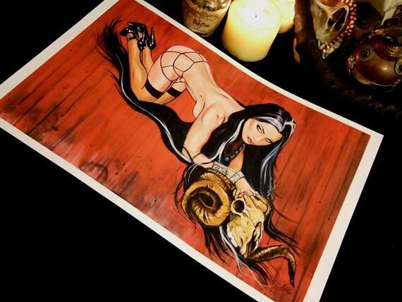 "Transylvania Centerfold 11"" x 17"" poster vampire pin up dark goddess"