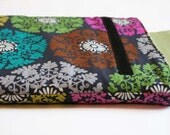 Ornate Pink, Grey and Green Laptop Sleeve - 13 Inch Macbook Pro