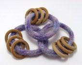 Baby Rattle Ring - Purple
