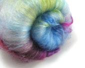 SALE Fiber Fantasy - Spinning Fiber 3oz + add-ins, Drum Carded Batts, Wool, Sparkly, Unicorn, Fiber for Spinning, Felting Supplies, sparkle
