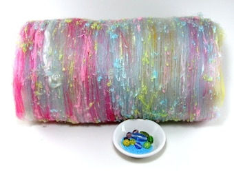 SALE Unicorn - 3oz Drum Carded Fiber Batt with Beads