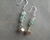 Sterling Silver Flower & Aquamarine