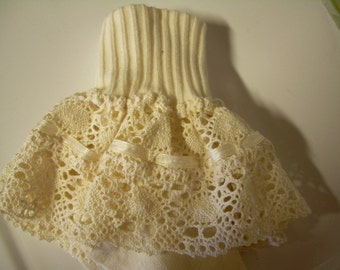 Custom Women Turn Cuff Ruffled Lace Socks