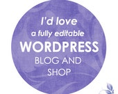 Wordpress Website, Blog and Shop - Web design and development - fully editable and updateable custom website and blog