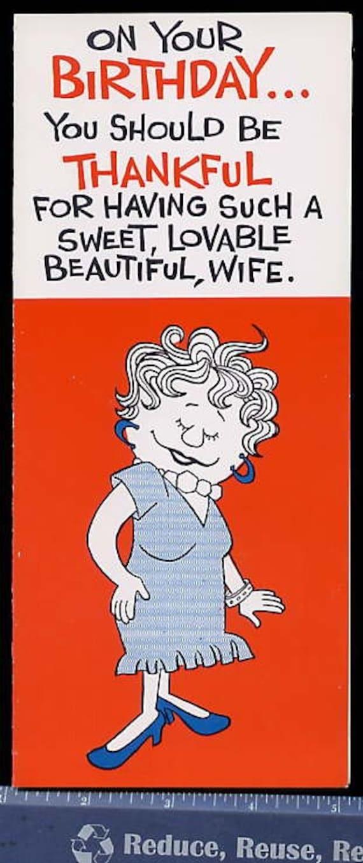 Funny Birthday Cards For Wife gangcraftnet