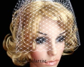 Rusian Veiling White Blusher Wedding Veil with Comb Ready to Wear