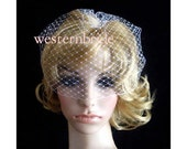 On Sale Pick of nose White Bridal Weding Rusian Net Birdcage Veil