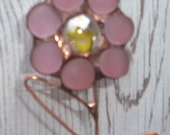 Stained Glass and Copper Daisy Windchime