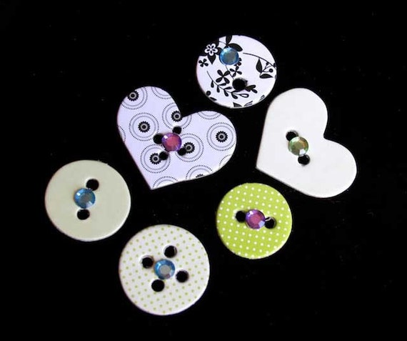 Whimsical Hearts and Circles Office Magnets