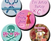 Crafty-DIY-Scrapbook-Chic collage sheet - 1 inch and 1.5 inch circles