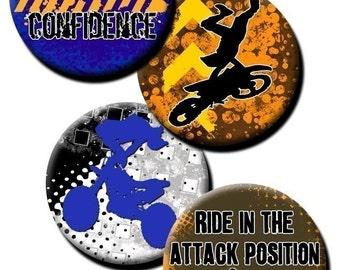 Motocross Theme collage sheet - 1 inch circles/bottle cap images
