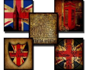 The British Are Coming - Digital collage sheet - .83 x .75 Scrabble tile size