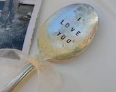 Custom Hand Stamped Vintage Spoon or Fork. YOU DECIDE.