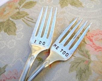 Wedding Forks. I Do Me Too Vintage Wedding Fork Set for Cake Reception