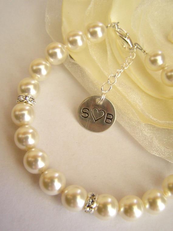 Personalized Swarovski Pearl Bracelet