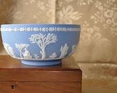 Gorgeous Wedgewood Blue Jasper Vintage 1960s Centrepiece Fruit Bowl