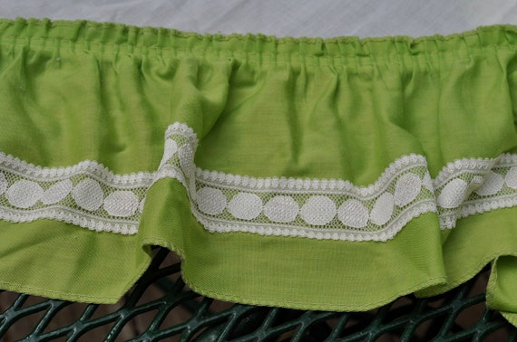 Http Www Etsy Com Listing 73408243 Vintage Kitchen Curtains One Pair Lime