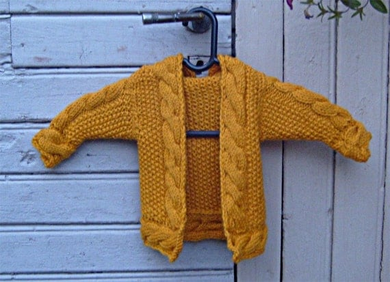Baby Hoodie Cable Cardigan Knitting Pattern