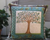 Oregon Tree Pillow -  insert included