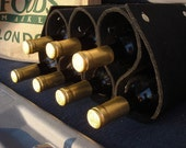 LAST ONE - Portable Wine Rack and Bottle Holder - Black Silk Knots. As Featured in the July Etsy Storque Article