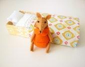 Tangerine Fox plush in match box