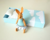 Easter Felt bunny in match box bed