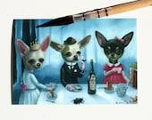 ACEO/ The Secret Tea Party by Ilona Sampovaara