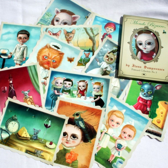 Mondo Bizarro Postcard Collection / Ilona Cutts