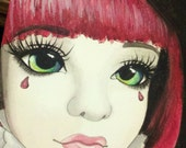 ORIGINAL Merry Christmas BJD MSD - watercolor 9x12