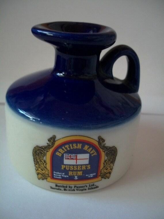 Vintage Rum Bottle British Navy Pussers   ON SALE NOW