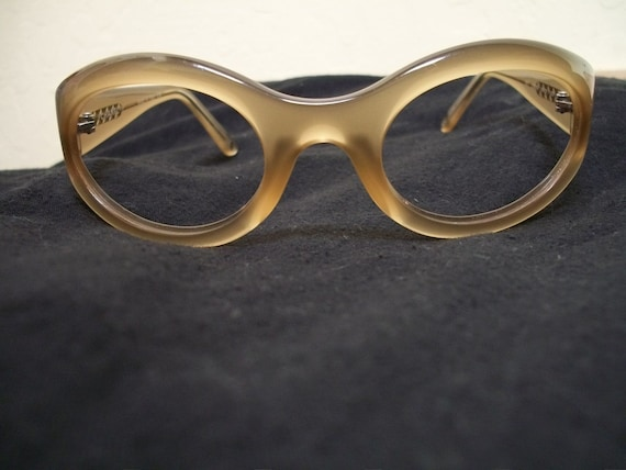 Sale-Vintage Chanel Eyeglass Frames-Beige Gold-AS IS