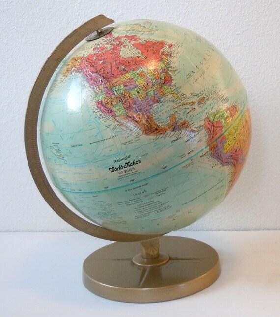 vintage 1960s or 1970s globe
