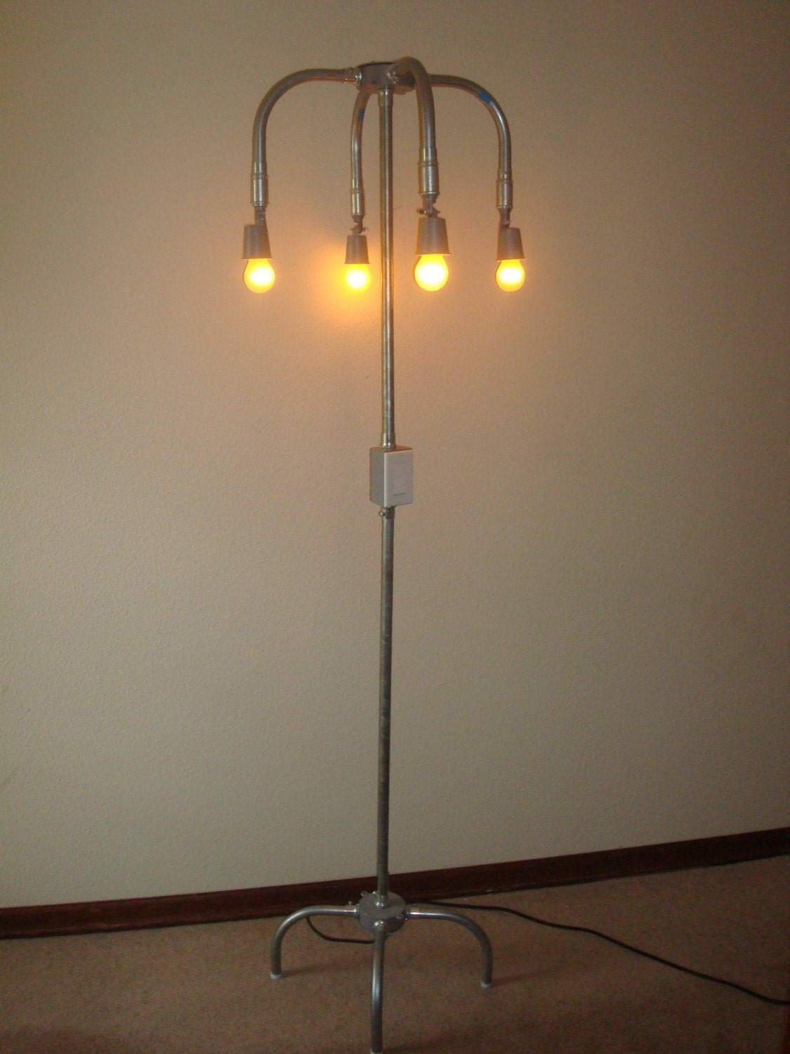 Industrial Style Floor Lamp By Griffinlamps On Etsy
