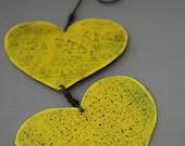 Yellow Garden Hearts - Free Shipping